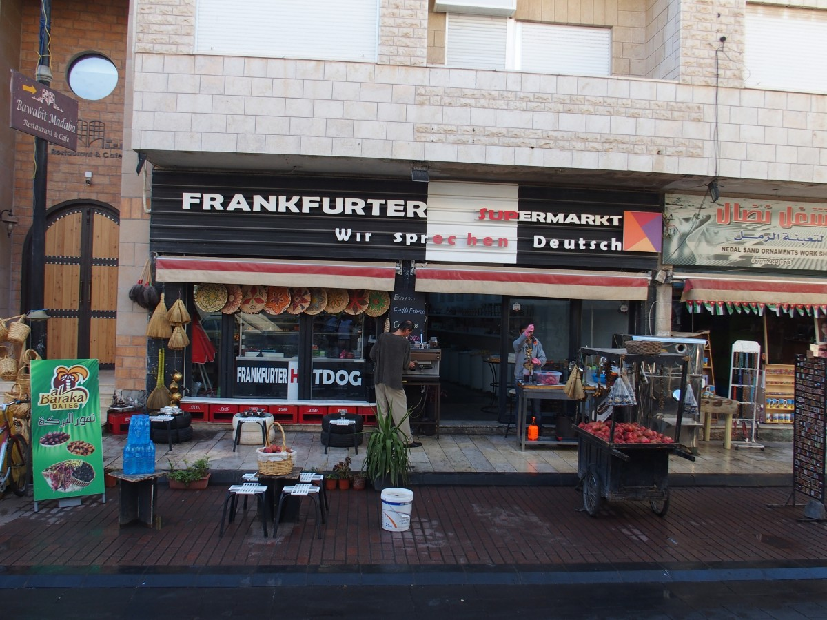 Frankfurter Supermarkt in Madaba